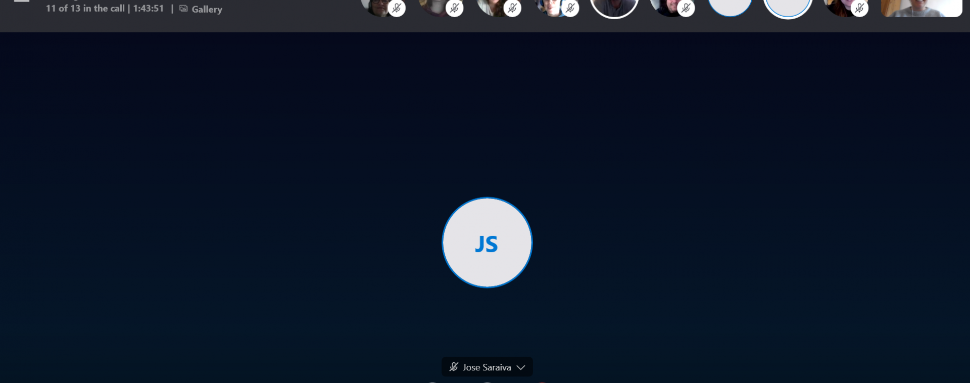 Skype screenshot from ran meeting